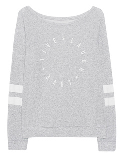 JUVIA Live Laugh Love Print Grey