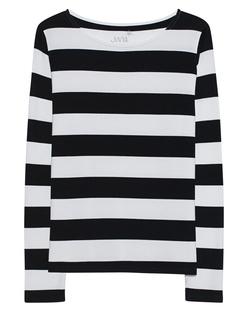 JUVIA Fleece Stripes Black White