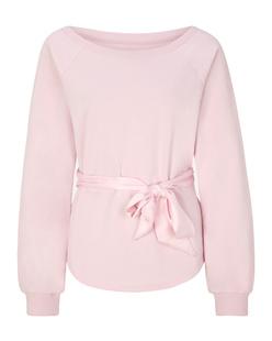 JUVIA Bow Sweat Pale Pink