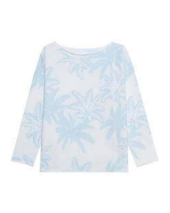 JUVIA Palms Light Blue White