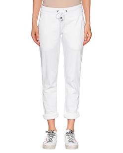 JUVIA Fleece Trousers Turn Up White