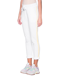 JUVIA Fleece Jogger Stripes Vanilla White