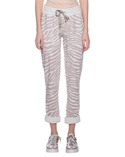 JUVIA Zebra Pattern Sweat Off-White