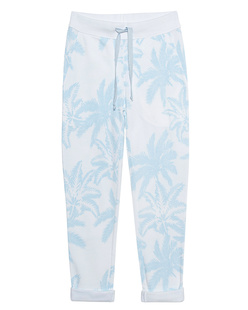 JUVIA Wide Palms Light Blue White
