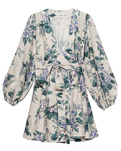 ZIMMERMANN Cassia Wrap Short Floral Multicolor