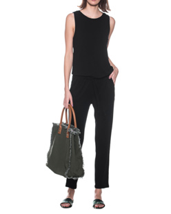 JUVIA Jumpsuit Stretch Black
