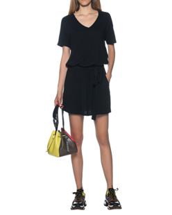 JUVIA Belted Short Black