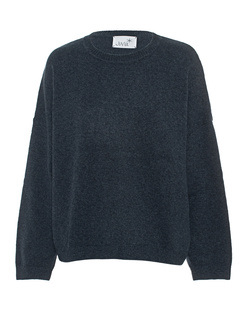 JUVIA Knit Loose Wool Cashmere Deep Ocean