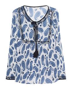 FROGBOX Tunic Paisley Blue