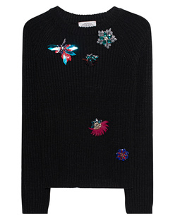 FROGBOX Brooch Knit Black