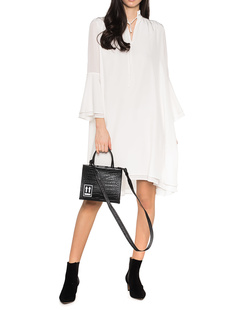 SLY 010 Trumpet Sleeves Silk Off-White