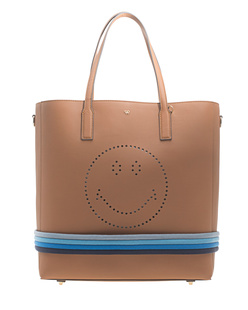 ANYA HINDMARCH Ebury Featherweight Tote Smiley Caramel