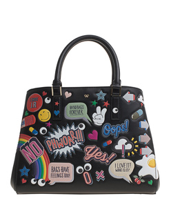 ANYA HINDMARCH Ebury Small All Over Wink Black