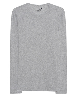 JUVIA Basic Shirt Long Lightgrey