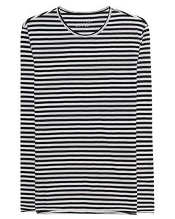 JUVIA Striped Black White
