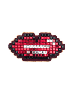 ANYA HINDMARCH Lips Diamante Red