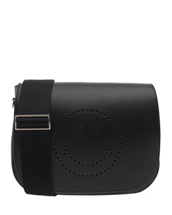 ANYA HINDMARCH Ebury Satchel Smiley Black