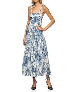 ZIMMERMANN Aliane Tie Shoulder Blue Floral