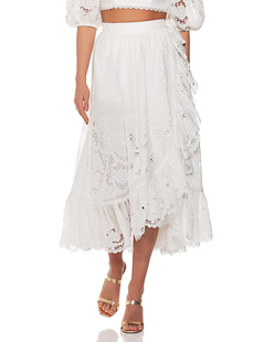ZIMMERMANN Lulu Scallop Wrap White