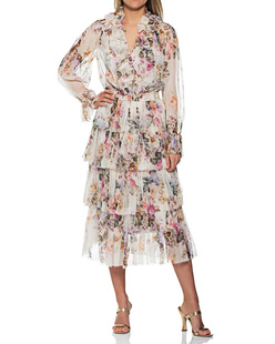 ZIMMERMANN Tiered Frill Multicolor