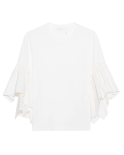 SEE BY CHLOÉ Trumpet Sleeves Cotton White