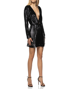 ANINE BING Elena Sequin Black