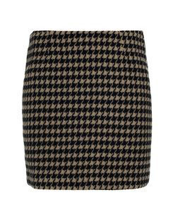 ANINE BING Houndstooth Cream Black