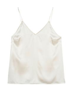 ANINE BING Cami Gwyneth Silk Ivory