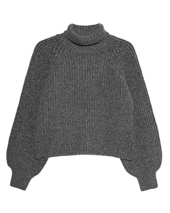 ANINE BING Ainsley Knit Turtleneck Grey