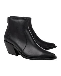 ANINE BING Tania Leather Black