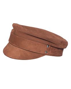 MANOKHI Biker Hat Suede Brown