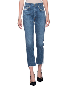 AGOLDE Riley Cropped Blue