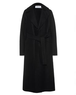 HARRIS WHARF LONDON Long Maxi Coat Pressed Wool Black