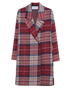 HARRIS WHARF LONDON Oversize Coat Tartan Multicolor