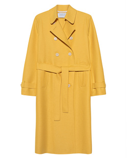 HARRIS WHARF LONDON Pressed Wool Bright Yellow