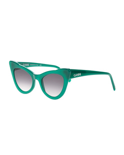 Ganni Cat-Eye Green