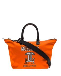 MOSCHINO Shopper Workshop Orange