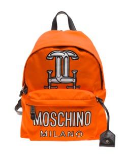 MOSCHINO Backpack Workshop Orange