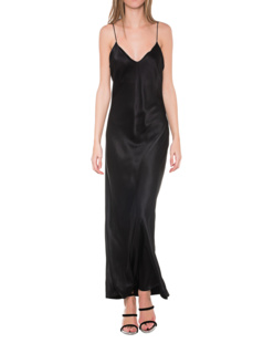 ANINE BING Silk Slip Dress Black