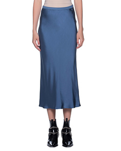 ANINE BING Silk Skirt Dusty Blue