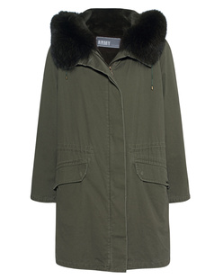 YVES SALOMON Parka 90 Hunter Green
