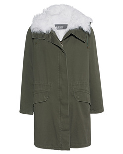 YVES SALOMON Parka 90 Hunter Green Cloud