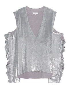 IRO Cut Out Pailletten Silver
