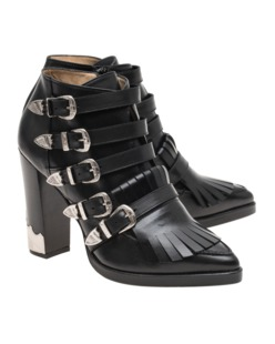 Toga Pulla High Chunk Latch Leather Black