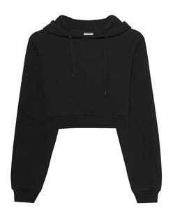 aprilmarch Crop Hood Black