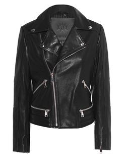 aprilmarch Biker Leather Zipper Black
