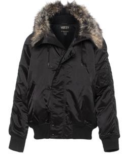 YEEZY Fur Bomber Black
