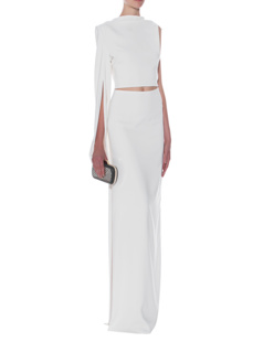Lever Couture Long Cut Out White