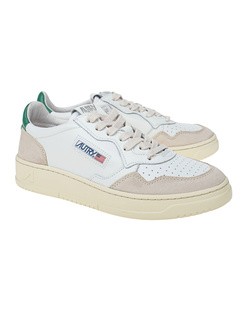 Autry Low Leat Suede Green White