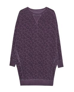 GREY MARL  Oversize Sweater Leo Lilac
